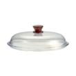 Üveg tető fa fogantyúval 24 cm