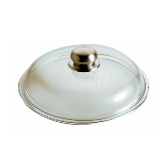 Üveg tető fém gombbal 24cm